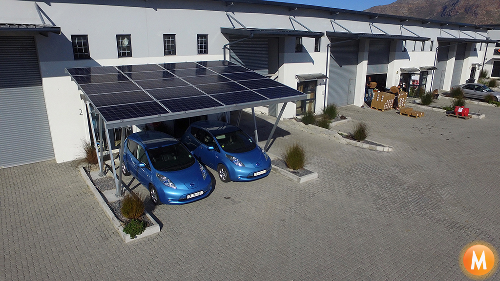 m solar power solar carport solar power solar pv systems cape town south africa. Black Bedroom Furniture Sets. Home Design Ideas